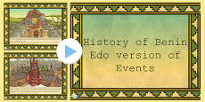 History of Benin, Edo Version of Events Story PowerPoint
