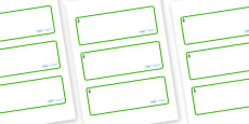 Larch Tree Themed Editable Drawer-Peg-Name Labels (Blank)