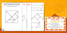 Chinese Animal Tangram Busy Bag Prompt Card and Resource Pack