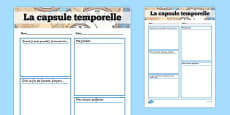 Time Capsule Transition Writing Frame French
