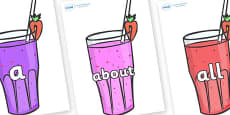 100 High Frequency Words on Smoothies