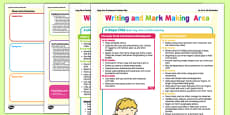 Writing and Mark Making Area Continuous Provision Plan Posters 16-26 to 40-60 Months
