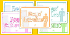 Boys' Toilets Display Signs