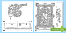 The Book of Kells Colouring Pages