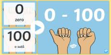 Scrierea și citirea numerelor de la 0-100 PowerPoint