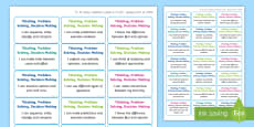 * NEW * NI Thinking Skills and Personal Capabilities Thinking, Problem Solving, Decision Making Success Criteria Stickers