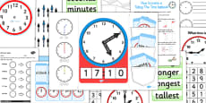 Telling The Time Lapbook Creation Pack