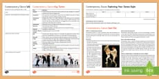 * NEW * Contemporary Dance Activity Pack