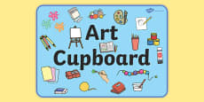 Art Cupboard Display Sign