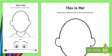 * NEW * EYFS This Is Me Activity Sheet