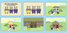 The Three Little Pigs Story Sequencing Arabic Translation