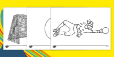 The Paralympics Goalball Colouring Sheets
