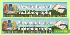 Biography and Autobiography Display Banner