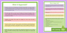 What Is Dyspraxia? A4 Display Poster
