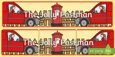 Display Banner to Support Teaching on The Jolly Postman