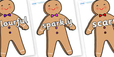 Wow Words on Gingerbread Man