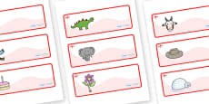 England Themed Editable Drawer-Peg-Name Labels