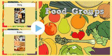 Food Groups Photo PowerPoint
