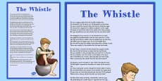 Charles Murray The Whistle Poem Display Posters