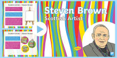 Scottish Artist Steven Brown Information PowerPoint