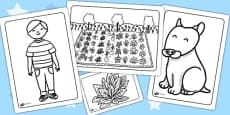 Oliver's Vegetables Colouring Sheets