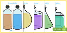 Science Lab Role Play Chemical Bottles