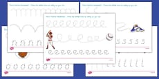 Baseball Themed Pencil Control Activity Sheets
