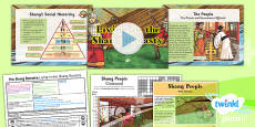 PlanIt - History UKS2 - The Shang Dynasty Lesson 2: Living in the Shang Dynasty Lesson Pack