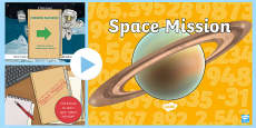 * NEW * Space Themed Reading and Writing Numbers PowerPoint Activity
