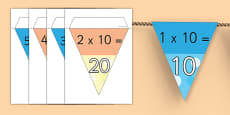 10 Times Table Bunting