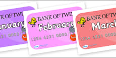 Months of the Year on Debit Cards