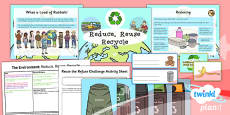 PlanIt - Science Year 2 - The Environment Lesson 2: Reduce, Reuse, Recycle Lesson Pack