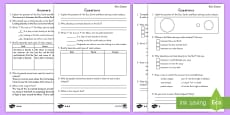 Solar Eclipse Differentiated Reading Comprehension Activity