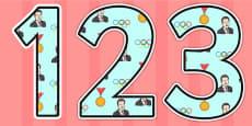 Sebastian Coe Themed Display Numbers