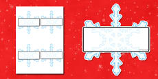 Editable Self Registration Snowflakes