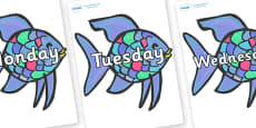 Days of the Week on Rainbow Fish to Support Teaching on The Rainbow Fish