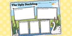 Ugly Duckling Story Review Writing Frame