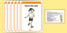 Foundation PE (Reception) Simon Says Warm-Up Activity Card