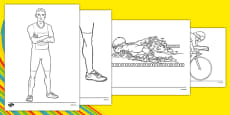 Rio 2016 Olympics Triathlon Colouring Sheets