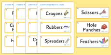Welcome to our class - shell Themed Editable Creative Area Resource Labels