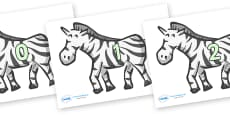 Numbers 0-31 on Zebras