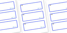 Jay Themed Editable Drawer-Peg-Name Labels (Blank)