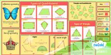 PlanIt Y4 Properties of Shapes Display Pack