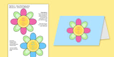 Mother's Day Flap Flower Card Romanian Translation