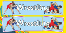 The Olympics Wrestling Display Banner