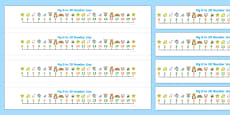 0-20 Number Line (numbers below)