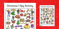 I Spy With My Little Eye Christmas Activity