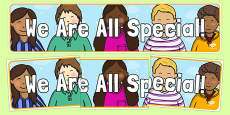 We Are All Special! Display Banner