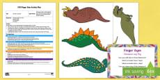 EYFS Dinosaur Leg Peg Finger Gym Plan and Resource Pack