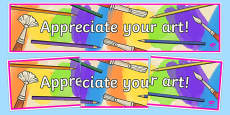 Appreciate your Art Display Banner